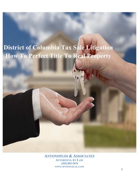 Perfecting Title After A DC Tax Sale Auction