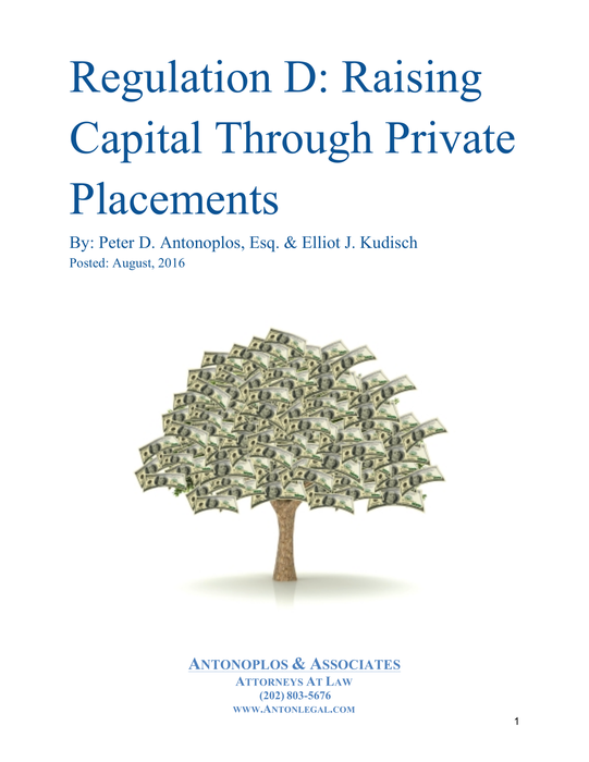 Regulation D: Raising Capital Through Private Placements