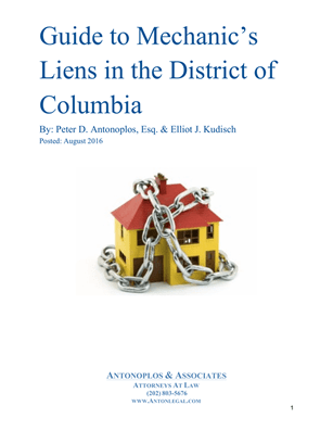 Guide to Mechanic's Liens in the District of Columbia