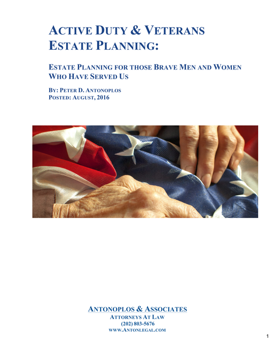 Active Duty & Veterans Estate Planning