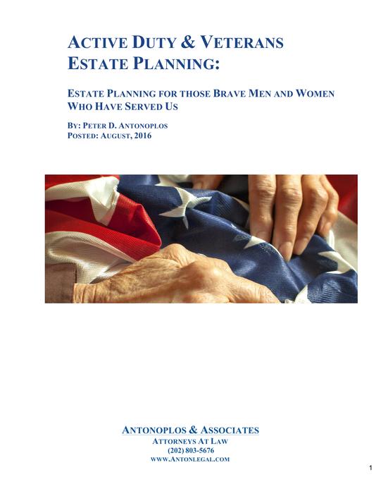 Active Duty & Veterans Estate Planning