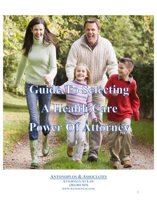 Selecting A Health Care Power Of Attorney