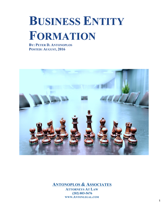 Business Entity Formation
